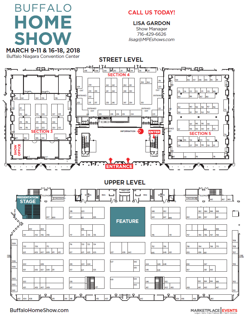 Floor Plan Exhibitor Rates Amp Contract For The Buffalo